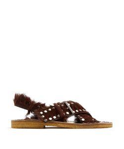 Prada | Studded Calf-Hair Sandals