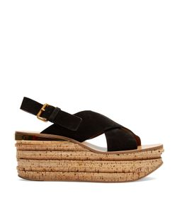 Chloé | Camille Suede Wedge Sandals