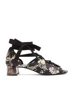 Erdem | Riyeka Vanguard Midnight-Print Block-Heel Shoes