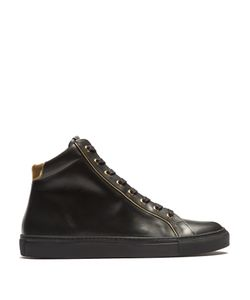 Balmain | High-Top Leather Trainers