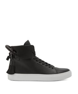 Buscemi   100mm Weave Leather High-Top Trainers