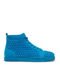 CHRISTIAN LOUBOUTIN | Louis Spike-Embellished High-Top Trainers