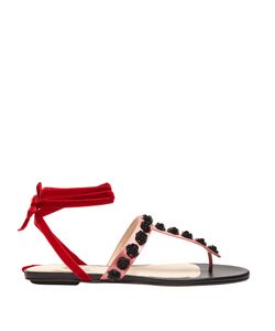 ATTICO | Vanessa Sequin-Embellished Satin Sandals