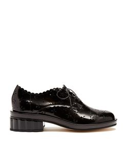 Simone Rocha | Broderie-Anglaise Cut-Out Leather Brogues