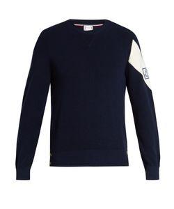 Moncler Gamme Bleu | Stripe-Detail Cotton Sweater