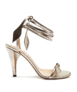 Chloé | Mike Wraparound Crackled-Leather Sandals