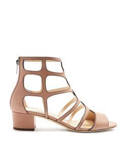 Jimmy Choo | Ren 35mm Block-Heel Leather Sandals