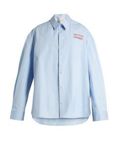 Martine Rose   Oversized Bonded-Cotton Shirt