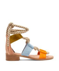 Pierre Hardy | Azur Suede Flat Sandals