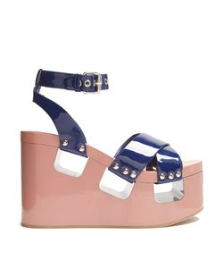 Miu Miu | Patent-Leather Wedge Sandals