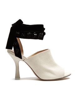 ATTICO | Pamela Open-Toe Canvas Mules