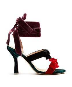 ATTICO | Diletta Bow-Embellished Velvet Sandals