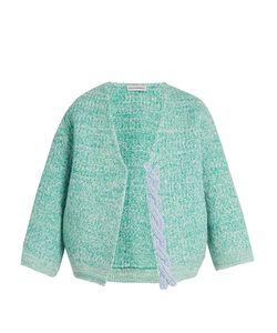 Vika Gazinskaya | Plaited-Detail Wool Open Cardigan