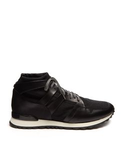 Oamc | Marathon Mid-Top Leather-Trimmed Trainers