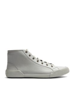 Lanvin | High-Top Grained-Leather Trainers