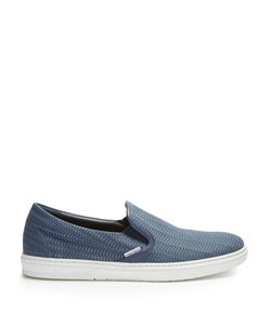 Jimmy Choo | Grove Woven-Leather Trainers