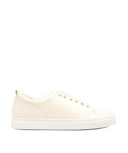 Lanvin | Capped-Toe Low-Top Leather Trainers