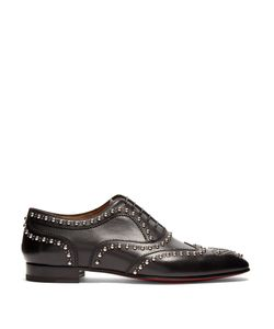 CHRISTIAN LOUBOUTIN | Charlie Clou Studded Leather Oxford Shoes