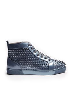 CHRISTIAN LOUBOUTIN | Louis Orlato Spike-Embellished High-Top Trainers