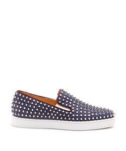 CHRISTIAN LOUBOUTIN | Roller Boat Spike-Embellished Slip-On Trainers
