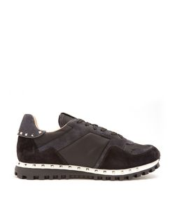 Valentino | Rockrunner Suede And Canvas Trainers
