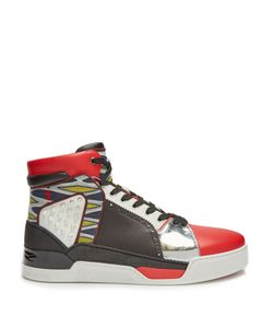 CHRISTIAN LOUBOUTIN | Loubikick High-Top Leather Trainers