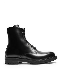 Alexander McQueen   High-Top Leather Ankle Boots