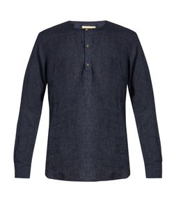 DE BONNE FACTURE | Round-Neck Washed-Linen Shirt