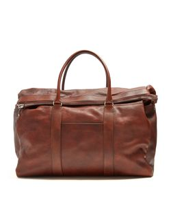 Brunello Cucinelli | Top-Handle Tarnished-Leather Holdall