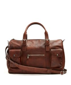 Brunello Cucinelli | Buckle-Handle Tarnished-Leather Holdall