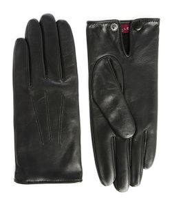 Agnelle   Leather Slim Touchscreen Gloves With Wool Lining