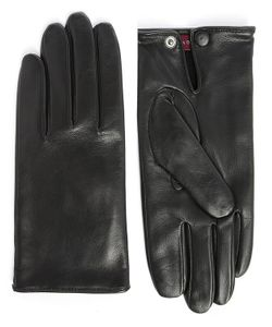 Agnelle | Dimitri Smooth Leather Gloves With Wool Lining