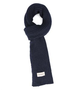 Oliver Spencer | Navy Large Stitch Wool Scarf
