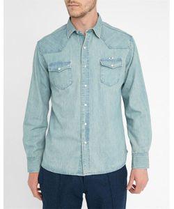 Maison Kitsuné | Washed Denim Western Shirt
