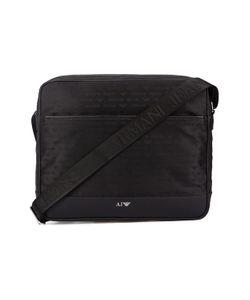 Armani Jeans | Aj All-Over Logo Nylon Front Zip Messenger Bag