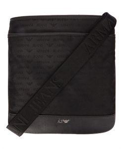 Armani Jeans | Aj Nylon All-Over Logo Gm Zipped Shoulder Bag