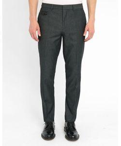 Hugo - Hugo Boss | Mottledcotton Turn-Up Dress Trousers