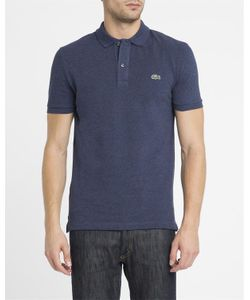 Lacoste | Mottled Navy Logo Slim-Fit Polo Shirt