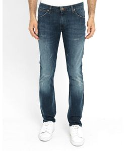 Wrangler | Faded Larston Tapered Stretch Slim-Fit Jeans