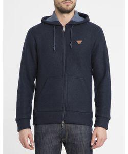 Armani Jeans | Navy Flannelette Hooded Sweatshirt