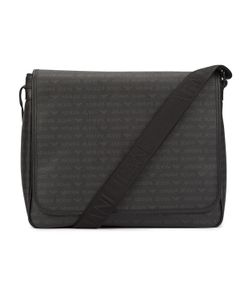Armani Jeans | All Over Logo Messenger Bag With Flap