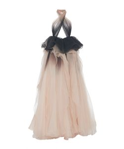 Marchesa | Ombré Draped Halter Neck Gown