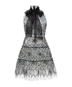 Giambattista Valli | Eyelet Lace Self-Tie Neck A-Line Dress