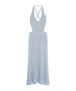 Cushnie Et Ochs | V-Neck Lace Up Midi Dress