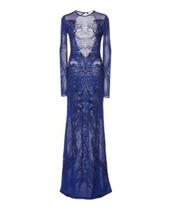 Zuhair Murad   Long Sleeve Embroidered Gown