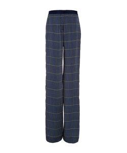 Hellessy | Anton Midnight Straight Leg Grid Silk Pant