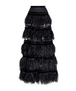 Elie Saab | Feather Tiered Maxi Skirt