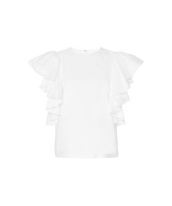 Co | Ruffled Flutter Sleeve Top