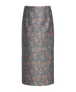 Isa Arfen | Quilted Lurex Pencil Skirt