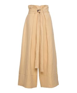 Kitx | Straw Tuck Waist Belted Trouser